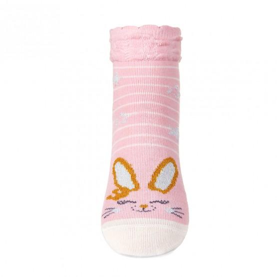 Шкарпетки для дівчаток з зайченям з люрексу фото 2