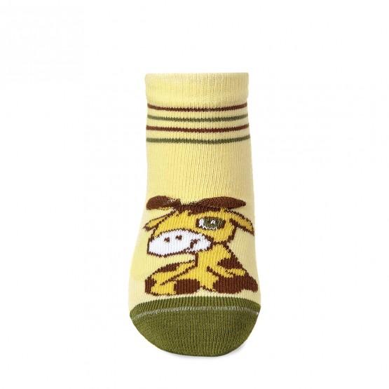 Дитячі шкарпетки для найменших з малюнком «3D жирафик» фото 2