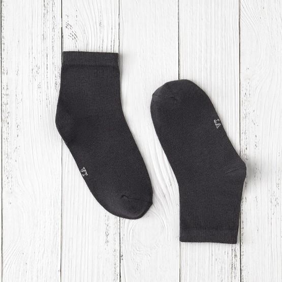 Гладкі однотонні шкарпетки для школи фото 1