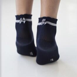 Дитячі шкарпетки в'язки лапка із бантиком над п'яткою-2069