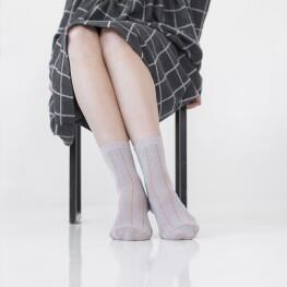 """Жіночі шкарпетки """"Версаль"""" із тоненькими смужками-1615"""