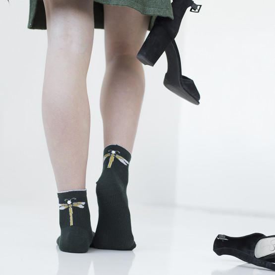 Жіночі шкарпетки із сяючою стрекозою фото 1