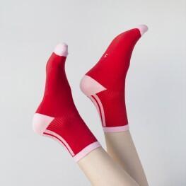 Спортивні жіночі шкарпетки із смужками-1529