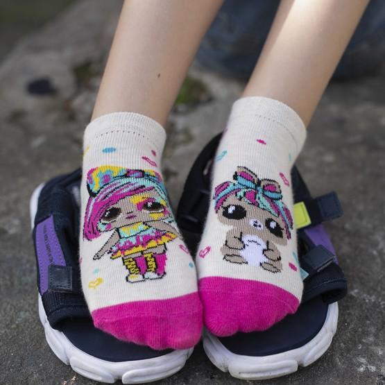 Комплект з 2-х пар яскравих шкарпеток для дівчат із лялькою LOL фото 10