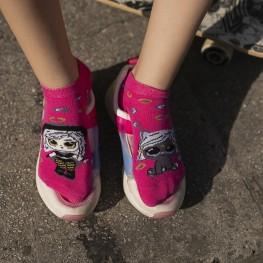 Комплект з 2-х пар яскравих шкарпеток для дівчат із лялькою LOL-3027