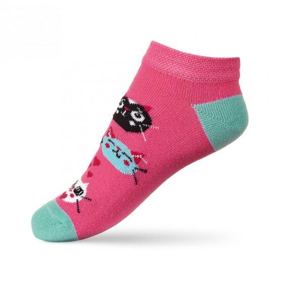 Шкарпетки сліди для дівчаток, з котиками. фото 3