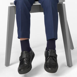 Гладкі однотонні шкарпетки для школи-2178