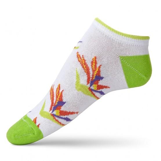 Жіночі шкарпетки сліди із соковитою квіткою Стреліцією фото 2