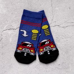 Дитячі шкарпетки для хлопчиків із принтом червоної машинки-1897