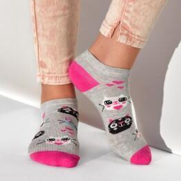 Шкарпетки сліди для дівчаток, з котиками.-2756