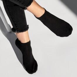 Укорочені однотонні жіночі шкарпетки з високоякісної бавовни-50