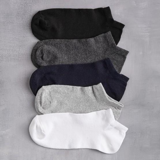 Чоловічі шкарпетки-сліди в темних та світлих кольорах фото 1