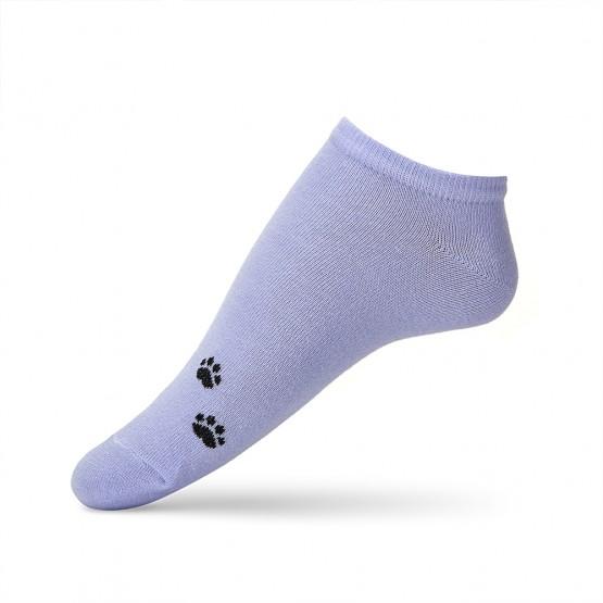 Яскраві жіночі шкарпетки сліди із лапками кішки фото 3
