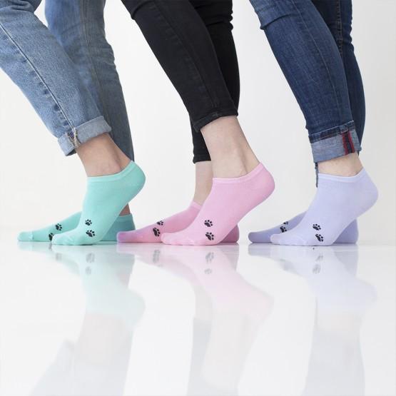 Яскраві жіночі шкарпетки сліди із лапками кішки фото 2