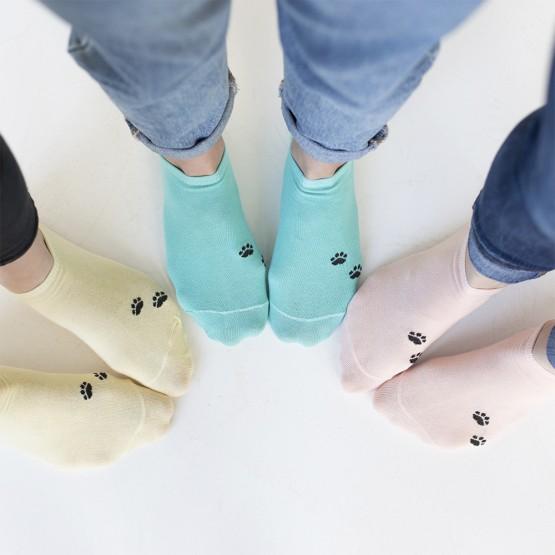 Яскраві жіночі шкарпетки сліди із лапками кішки фото 1