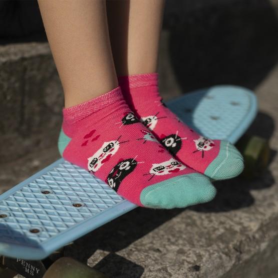 Шкарпетки сліди для дівчаток, з котиками. фото 2
