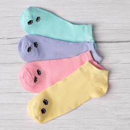 Яскраві жіночі шкарпетки сліди із лапками кішки-1747