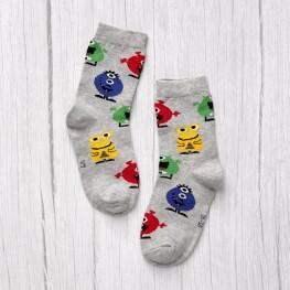 Дитячі гладкі шкарпетки академія монстрів-2267