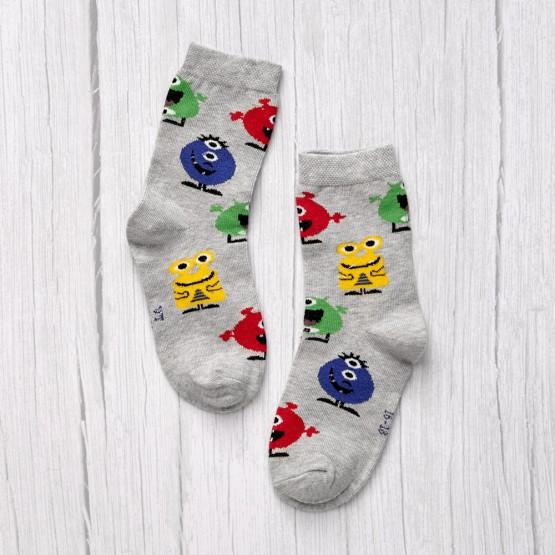 Дитячі гладкі шкарпетки академія монстрів фото 1