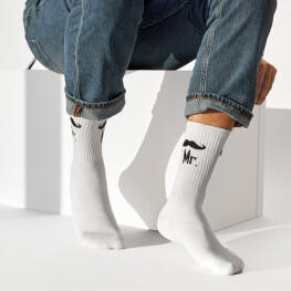 Чоловічі шкарпетки з написом Мr.-2536