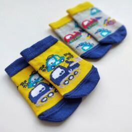 Комплект дитячих укорочених шкарпеток для малюків.-3025
