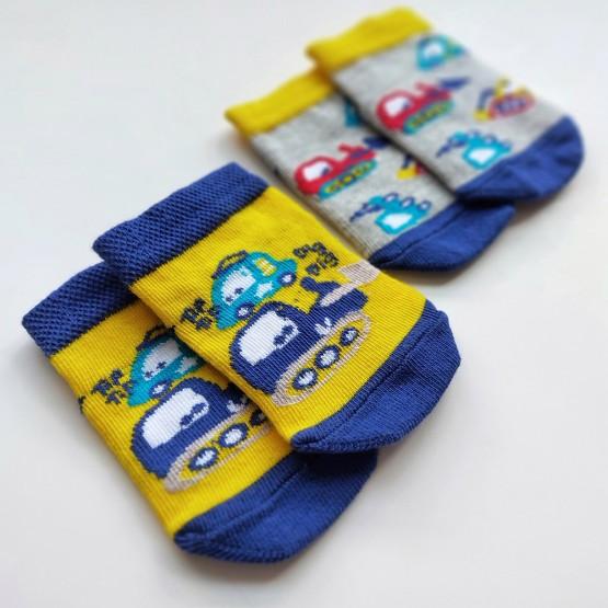 Комплект дитячих укорочених шкарпеток для малюків. фото 1