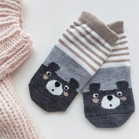 Дитячі шкарпетки для малюка з малюнком «ведмежатко» фото 1