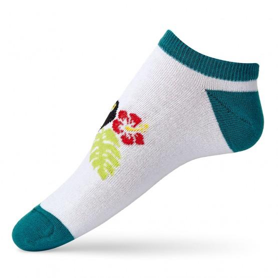Яскраві жіночі шкарпетки сліди із принтом тукани фото 2