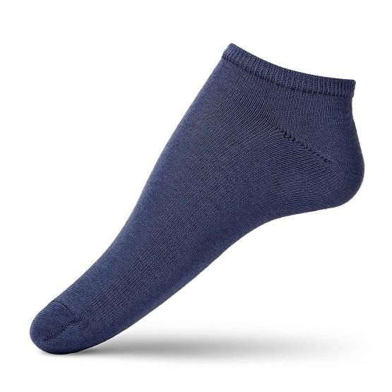 Укорочені однотонні жіночі шкарпетки з високоякісної бавовни фото 1